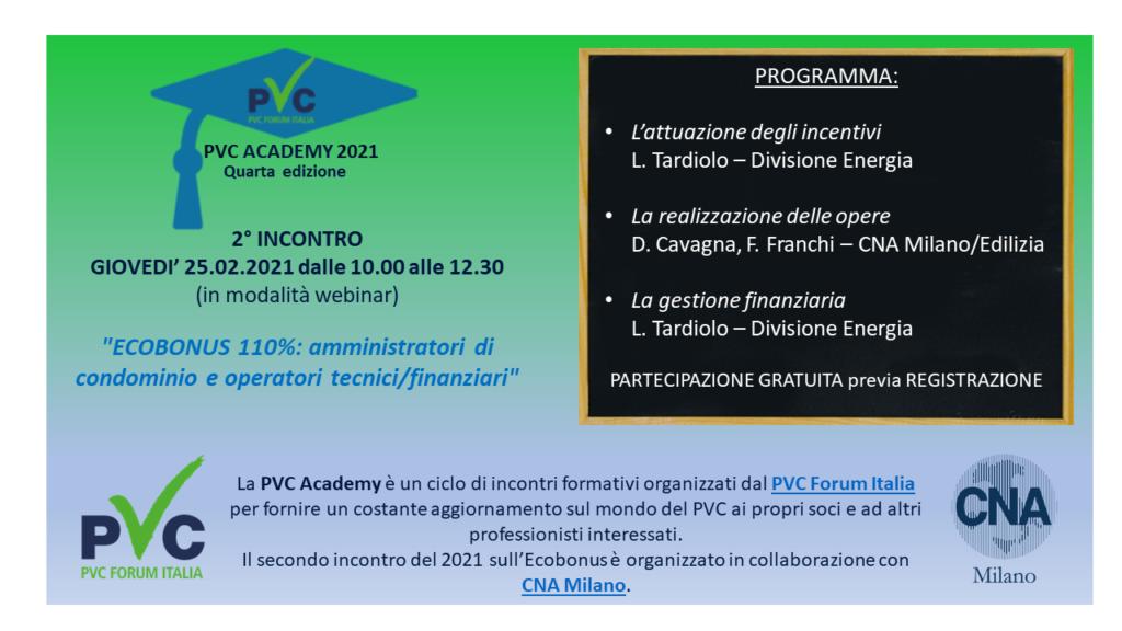 Webinar Ecobonus 110%, PVC Academy 2021